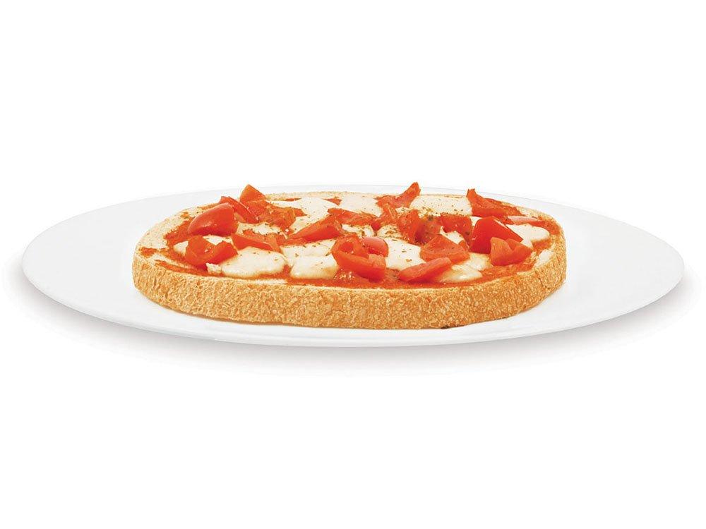 margherita bruschetta with tomato and mozzarella